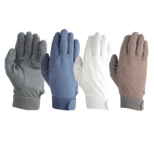 Hy5 Cotton Pimple Palm Gloves in Black in extra extra extra small