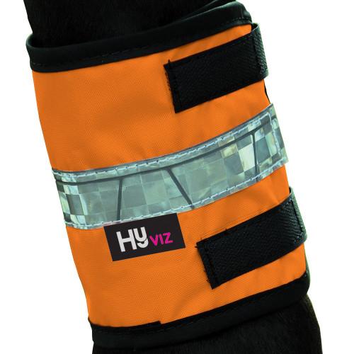 HyVIZ Leg Bands Orange/Black Pony