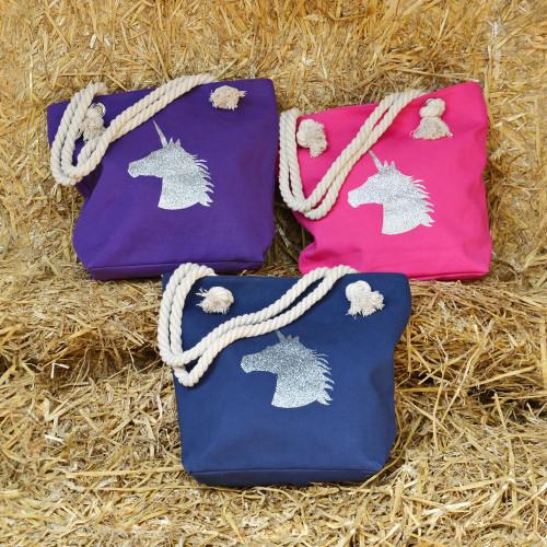 HyFASHION Unicorn Glitter Tote Bag - Pink - One Size