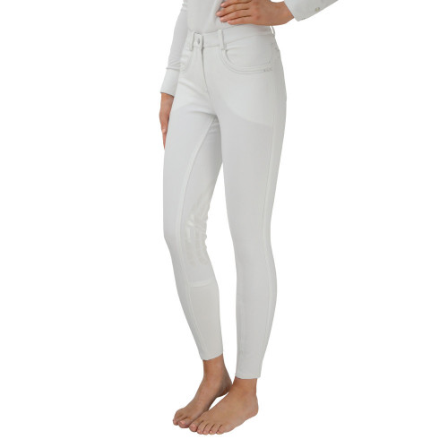 """HyPERFORMANCE Corby Cool Ladies Breeches - White - 24"""""""
