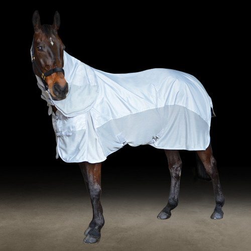 StormX Original AirFlow 600D Detachable Fly Rug in Silver/Grey in 6'3""