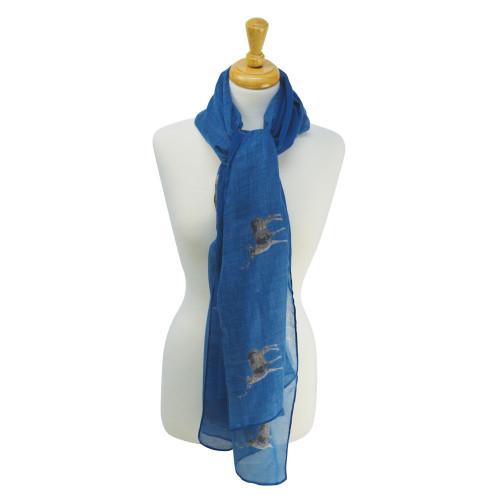 HyFASHION Stag Print Scarf - Ocean Blue - One Size