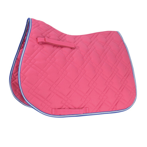 HySPEED Deluxe Pro Saddle Pad in Raspberry/Blue/White in Cob/Full