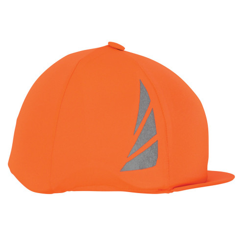 Reflector Hat Cover by Hy Equestrian - Orange in One Size