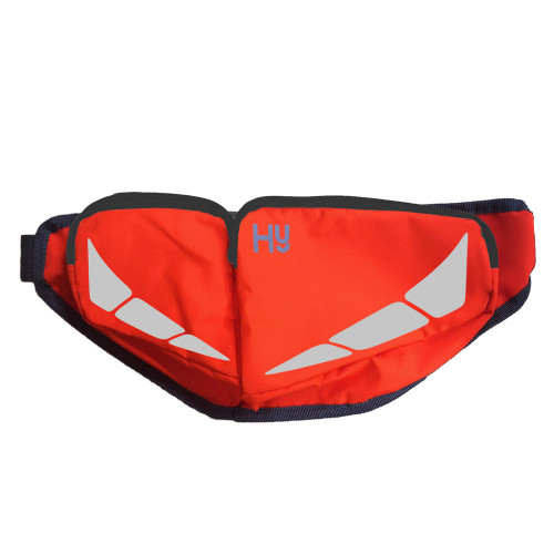 Reflector Bum Bag by Hy Equestrian in Orange in One Size