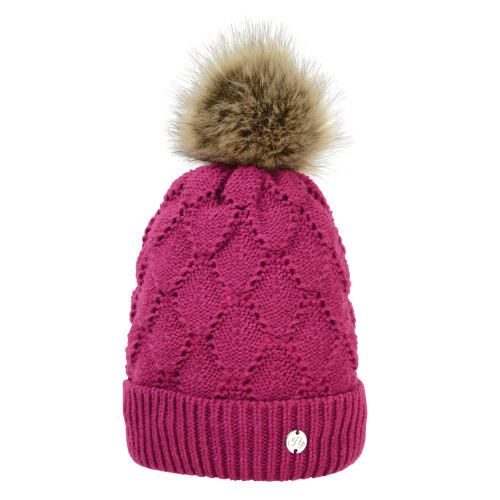 HyFASHION Saskatoon Knitted Bobble Hat - Very Berry - One Size