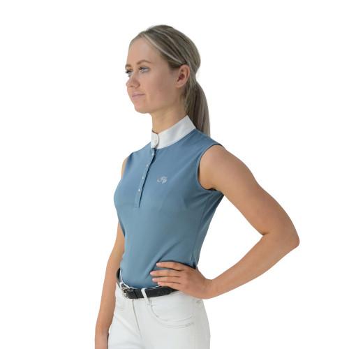 HyFASHION Sophia Sleeveless Show Shirt - Aegean Blue - X Small