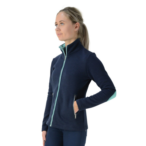 HyFASHION Mizs Beatrice Fleece Jacket - Navy/Peppermint Green - 9-10 Years