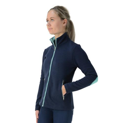 HyFASHION Mizs Beatrice Fleece Jacket - Navy/Peppermint Green - 9-10 Years