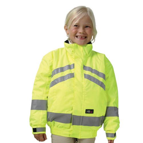 HyVIZ Reflective Waterproof Children's Blouson - Yellow - 4-6 Years