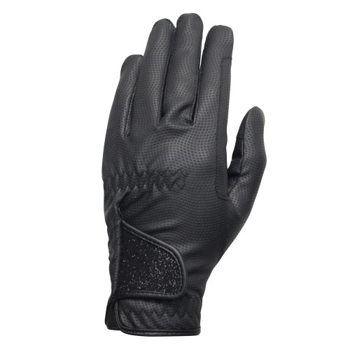 Hy5 Roka Advanced Riding Gloves in Black/Black in extra small
