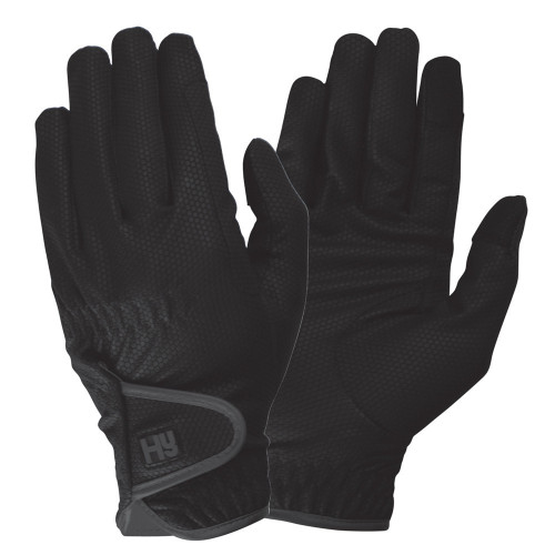 Hy5 Cottenham Elite Riding Gloves in Black in Child extra small