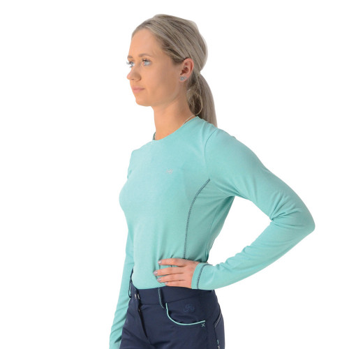 HyFASHION Mizs Beatrice Base Layer - Peppermint Green/Navy - 9-10 Years