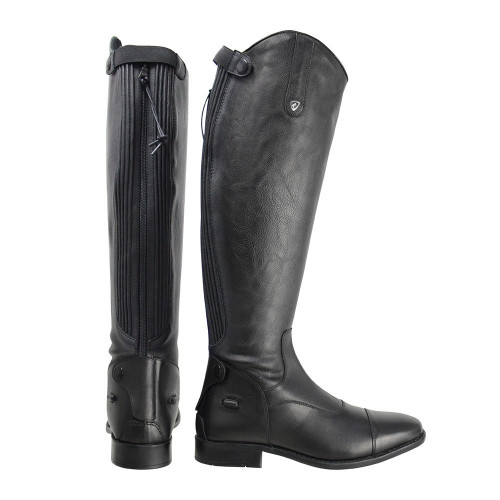 HyLAND Terre Field Riding Boots in Black with a wide calf size 36