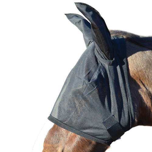 Hy Fly Mask with Ears - Black - Small
