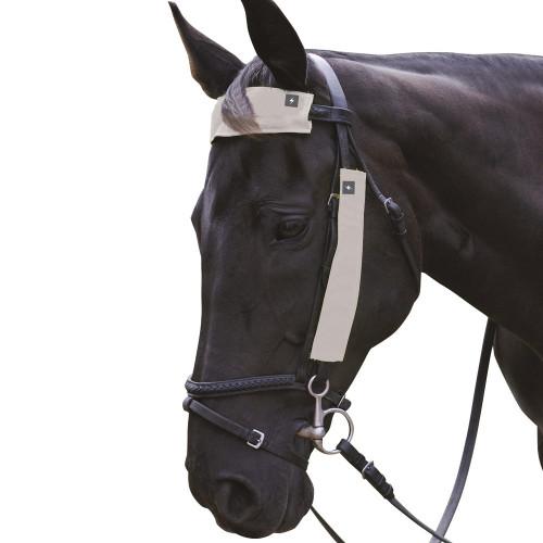 Silva Flash Reflective Bridle Set by Hy Equestrian - Reflective Silver 3 Piece Set