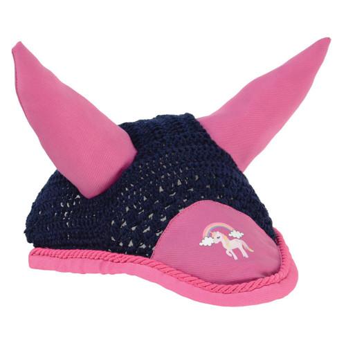 Little Unicorn Fly Veil - Navy/Pink - Small Pony