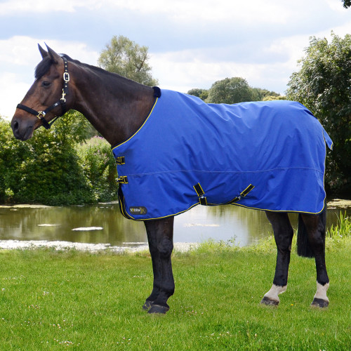 StormX Original 100 Turnout Rug in Royal Blue, Navy, Yellow in 4'6""