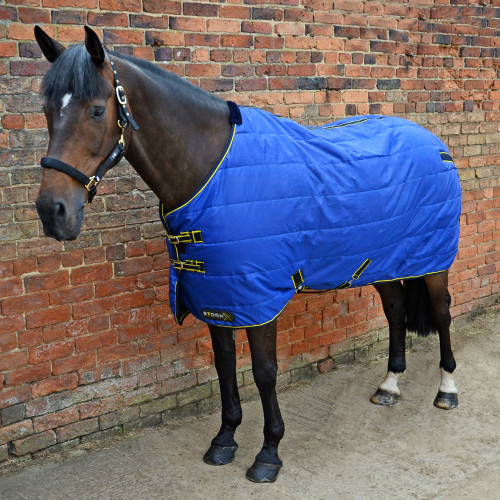 """StormX Original 100 Stable Rug - in Royal Blue, Navy, Yellow in 4'6"""""""