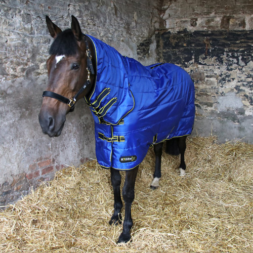 """StormX Original 100 Combi Stable Rug in Royal Blue, Navy, Yellow in 4'6"""""""