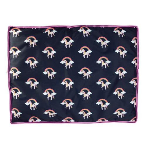 Hy Unicorn Dog Bed - Navy/Pink - 60 x 80cm