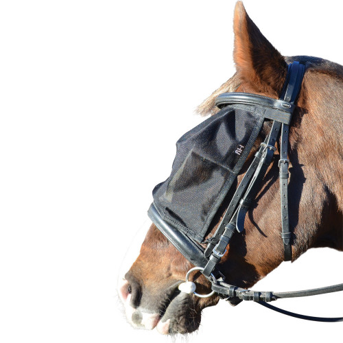 Hy Riding Fly Mask - Black - Small