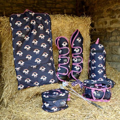 Hy Unicorn Garment Bag - Navy/Pink - One Size