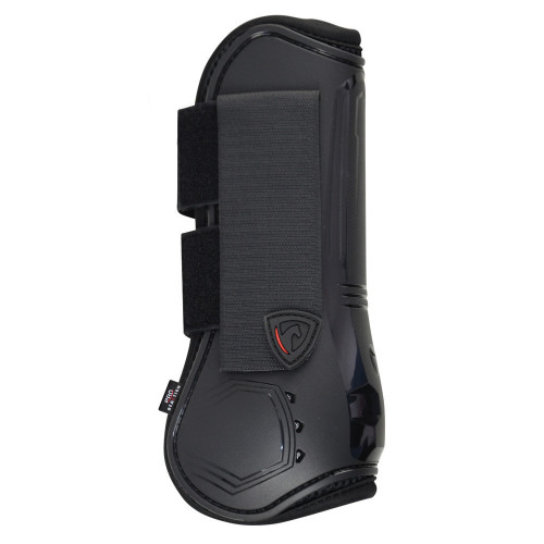 Outside of Hy Armoured Guard Pro Reaction Tendon Boot in Black in medium