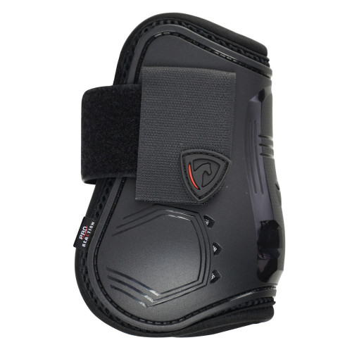Outside of Hy Armoured Guard Pro Reaction Fetlock Boot in Black in medium