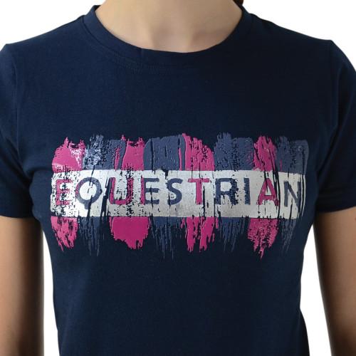 HyFASHION Mizs Eugenie T-Shirt - Navy/Pink - 9-10 Years