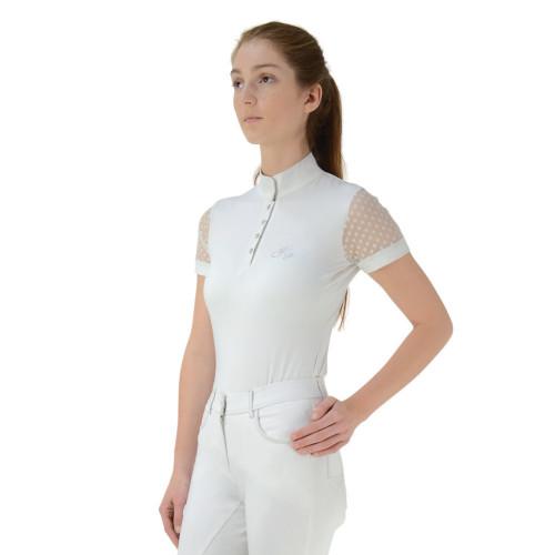 HyFASHION Lydia Lace Show Shirt - White - X Small