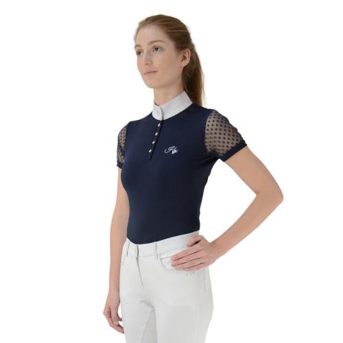 HyFASHION Lydia Lace Show Shirt - Navy - X Small