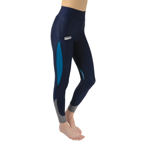 Hy Sport Active Silicone Riding Skins - Navy/Aegean Green - X Small
