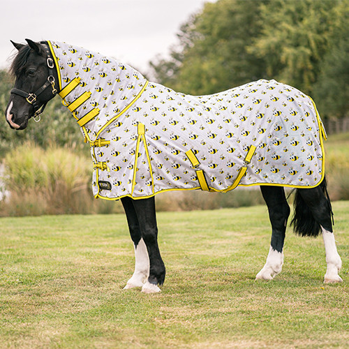 StormX Original Bee Combo Fly Rug - Yellow/Black/White - 4'6""