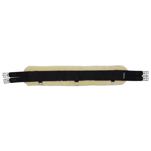 HyCOMFORT Detachable Faux Fur Elasticated Girth in Natural/Black in 42""