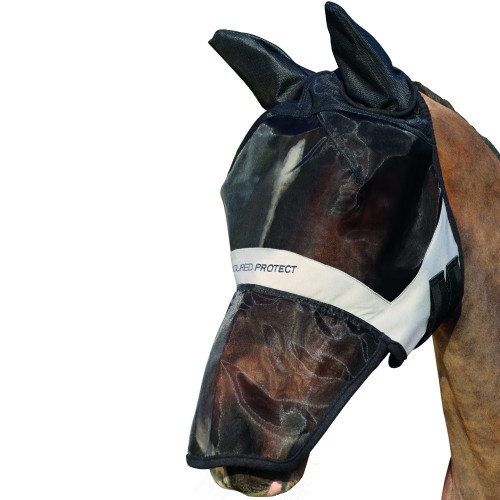 Hy Armoured Protect Full Mask with Ears and Nose - Black/Grey - Small Pony