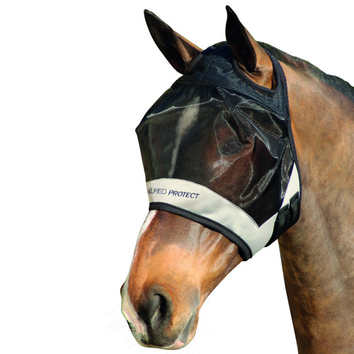 Hy Armoured Protect Half Mask without Ears - Black/Grey - Small Pony