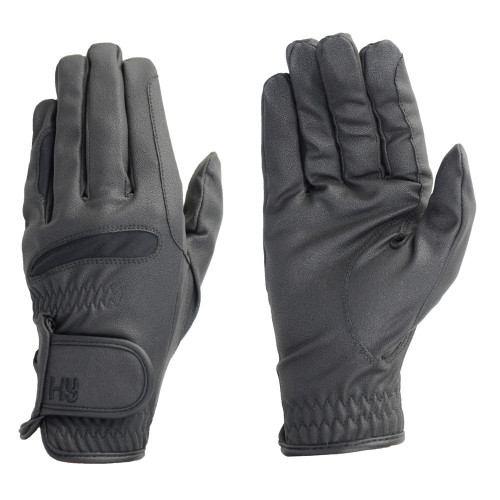 Hy5 Lightweight Riding Gloves in Black in extra small