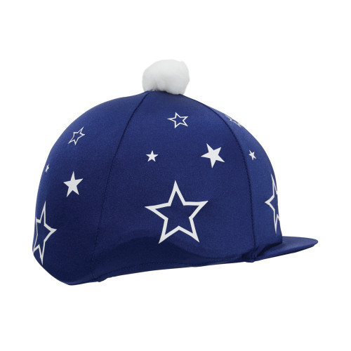 Hy Equestrian Super Starz Hat Cover - Navy/White - One Size