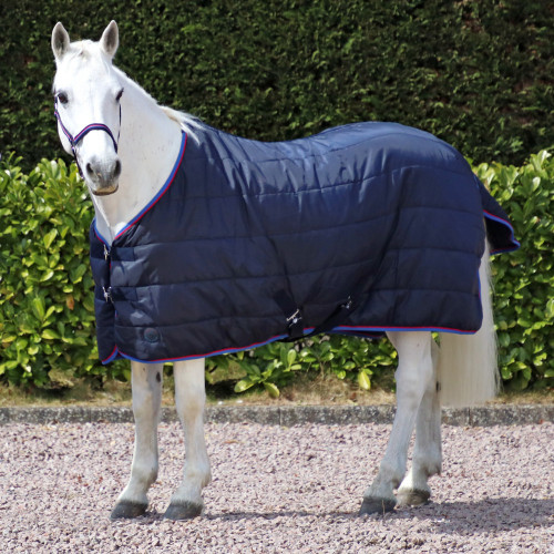 """Hy Signature 250g Stable Rug in Navy, Red and Blue in 4'6"""""""