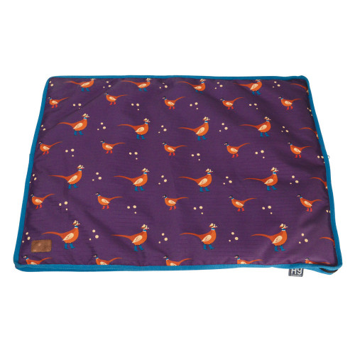 Benji & Flo Patrick the Pheasant Dog Bed -Purple/Blue-60 x 80cm