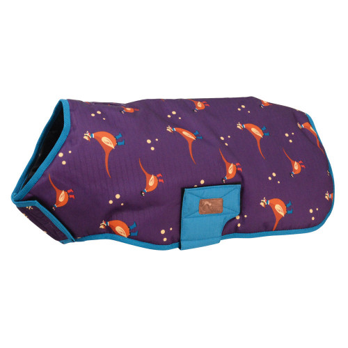 Benji & Flo Patrick the Pheasant Waterproof Dog Coat -Purple/Blue-X X X Small