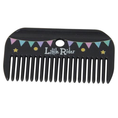 Merry Go Round Mane Comb by Little Rider - Grey/Pink - 9.5 x 5.3cm