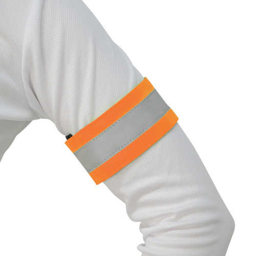 Reflector Arm/Leg Wraps by Hy Equestrian in One Size in Orange