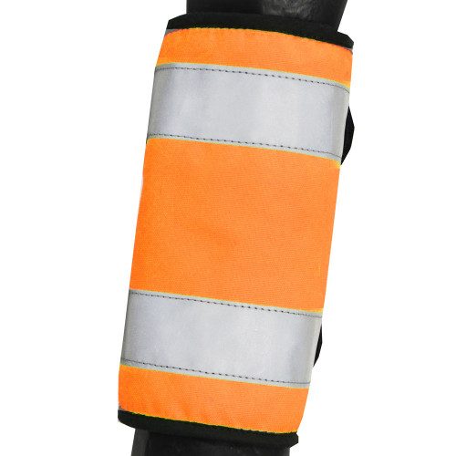 Reflector Horse Leg Wraps by Hy Equestrian in Orange in Pony Size