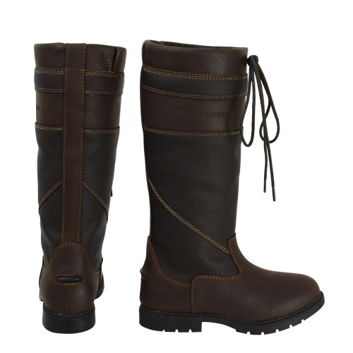 Hy Signature Waterproof Country Boot in Brown size 36