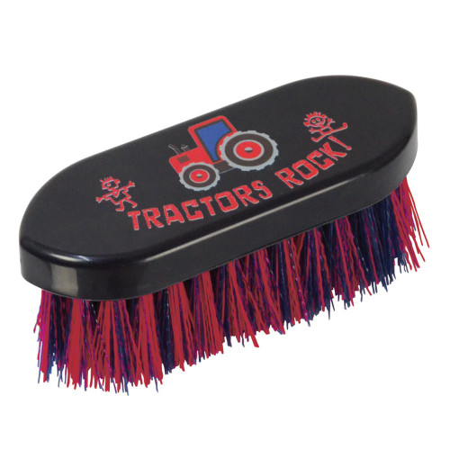 Tractors Rock Dandy Brush by Hy Equestrian - Navy/Red - 14 x 5cm