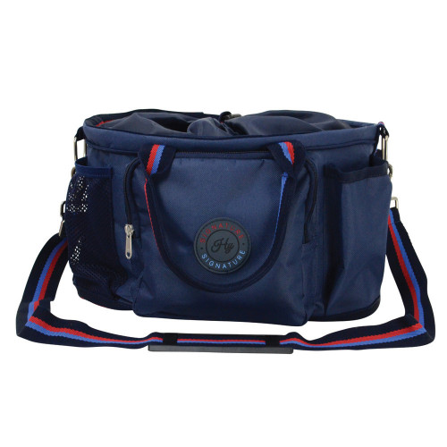 Hy Signature Grooming Bag in Navy, Blue and Red