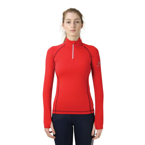 Hy Sport Active Base Layer - Rosette Red - X Small