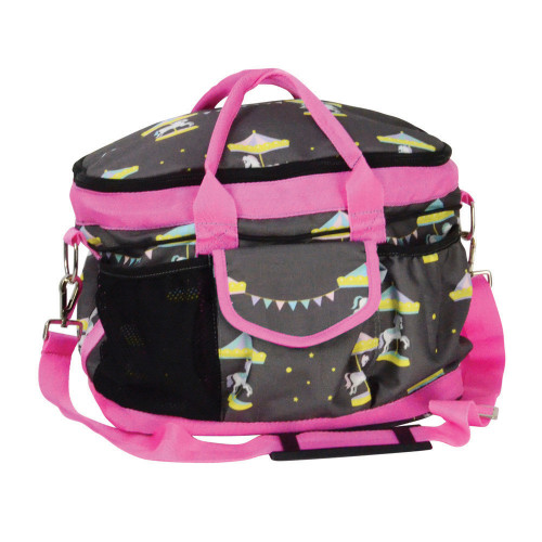 Merry Go Round Grooming Bag - Grey/Pink - One Size